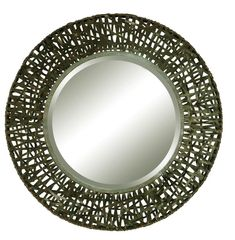Uttermost 11587 B Alita Beveled Mirror With Woven Metal Frame Black Metal Home Decor Mirrors Lighting