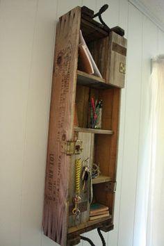 Repurposed Ammunition Box Organizer - modern - wall shelves - atlanta - LBHcozycreation