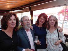 Milagros Antón, Nicolás Seisdedos, M.ª Ángeles Pérez y M.ª Carmen Ortega en la despedida de esta última en Octubre de 2016.