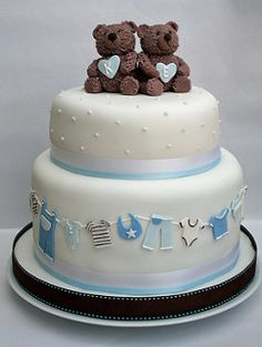 Twin baby shower cake | by The Cake Boutique