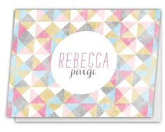 Prism-Patterned Folded Stationery Note Wedding Invitation Design, Wedding Stationery, Personalized Stationery, Note Cards, Hand Lettering, Notes, Pattern, Stationery Shop, Report Cards