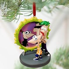 DISNEY-2011-ACROSS-THE-SECOND-DIMENSION-PHINEAS-AND-FERB-ORNAMENT-NEW-IN-BOX