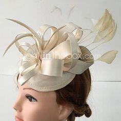 Femme Satin / Plume Casque-Mariage / Occasion spéciale / Décontracté Coiffure 1…