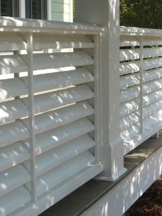 louvered deck railing | Found on johngreenbuilds.com