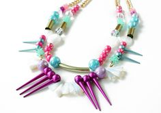 The Candybox- USD78  #jewelry #neon #accessories #necklace #colors #crafts #fashion