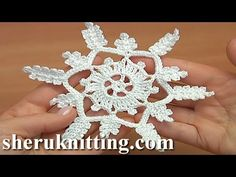 How to Crochet a Snowflake – Crafty House