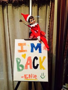 Good way to bring elf on the shelf back!
