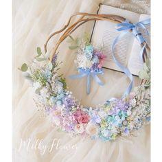 パステルカラーのお花で作るリースブーケデザイン集 | marry[マリー]