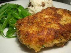 Crusted Pork Chops Parmesan Crusted Pork Chops Recipe—can be baked.Parmesan Crusted Pork Chops Recipe—can be baked. Best Pork Chop Recipe, Pork Chop Recipes, Meat Recipes, Cooking Recipes, Recipies, Dinner Recipes, Cooking Bacon, Dinner Ideas, Cooking Kale