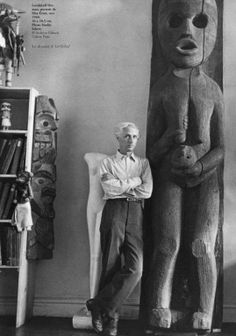 Hermann Landshoff - Max Ernst (German [Dada, Surrealism ]Max Ernst at Peggy Guggenheim's home, New York, fall 1942 © Max Ernst, Artist Art, Artist At Work, Famous Artists, Great Artists, Artistic Photography, Art Photography, Studios D'art, Peggy Guggenheim