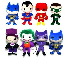 DC Universe plush dolls.