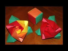 Origami Rose Cube - How To Make An Origami Magic Rose Cube - YouTube
