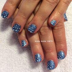 Sherri's nail design! #vacationnails #springnails #stars #blue #nailart #nailgasm #nailjunkie #nailporn #wowwownails #toronto #shellac