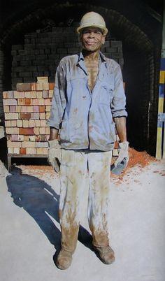 """Saatchi Online Artist: Helena Hugo; """"Brickmaker"""""""