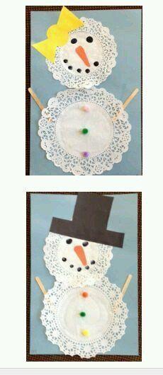 New Ideas Craft Winter Preschool Snowman Daycare Crafts, Classroom Crafts, Toddler Crafts, Preschool Crafts, Preschool Christmas, Kids Christmas, Preschool Winter, Winter Activities, Snowman Crafts