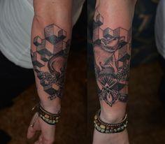 Line work tattoo #lines #tattoo #rat #geometric