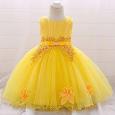 Infant Kids 1 Year Girl Baby Birthday Christmas Dress Baby Girls Princess Lace Flower Party Dress New Year Toddler Girl Clothing Baby Girl Holiday Dresses, Newborn Girl Dresses, Dresses Kids Girl, Toddler Girl Outfits, Toddler Dress, Baby Dress, Birthday Girl Dress, Birthday Dresses, Baby Birthday