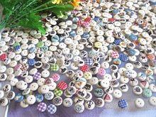 Aleatório mix 30 estilo 15 mm 500 pçs/lote botões de madeira botões de costura para embarcações, Scrapbooking acessórios de costura botoes(China (Mainland))