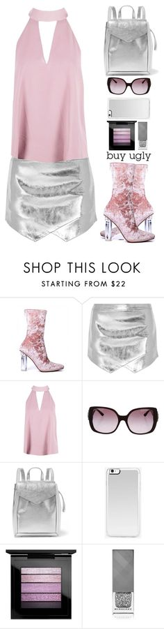 """buy ugly boots"" by juliehalloran ❤ liked on Polyvore featuring Mason by Michelle Mason, Boohoo, Bulgari, Loeffler Randall, Zero Gravity, MAC Cosmetics and Burberry"