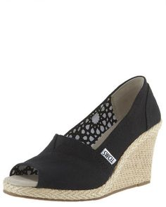 ShopStyle: TOMS Shoes Canvas Espadrille Wedge