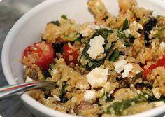 Mediterranean Eggplant and Quinoa Salad