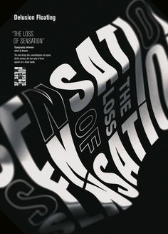 delusionfloating by faak & paat studio - typo/graphic posters Graphic Design Posters, Graphic Design Typography, Graphic Design Illustration, Graphic Design Inspiration, Typo Poster, Typographic Poster, 3d Poster, Poster Series, Graphisches Design