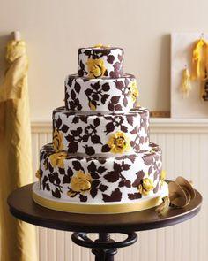 Floral Cotton-Inspired Cake | Martha Stewart Weddings