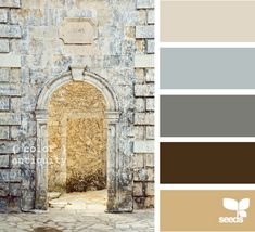 I love how neutral these colors are... I could totally use these in my home for paint color inspiration!