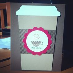 """coffee card (I think by Jessica Taylor--""""Ink It Up"""")"""