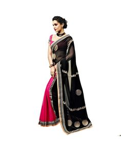 Black Resham Embroidery Saree To know more or buy, please click Below:- http://www.ethnicstation.com/black-resham-embroidery-saree-vl1765                  #EthnicWear