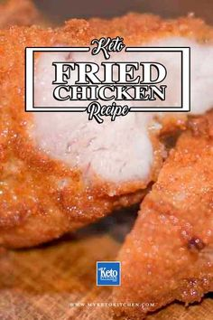 Keto Fried Chicken Recipe – Tasty Herbs and spices. These easy fried chicken thighs have delicious gluten free breading made from almond flour and parmesan cheese! Fried Chicken Thigh Recipes, Fried Chicken Breast, Fried Chicken Recipes, Keto Chicken, Low Carb Fried Chicken, Almond Recipes, Low Carb Recipes, Cooking Recipes, Banting Recipes