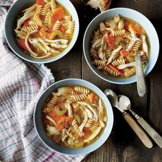 Homemade Chicken Noodle Soup | CookingLight.com #myplate #protein #veggies #protein