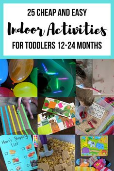 Indoor Activities For Toddlers – Let's Live and Learn