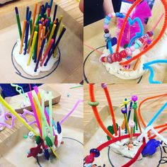Another successful Adaptive Art lesson! 3D multi-media sculptures! Thanks @playful_wren for the inspiration. We used @crayola air dry clay and then lots of different things to poke and stick! I absolutely LOVE what came out of these little artists imagination #adaptiveart #iteachart #arteducation #teacher #crayola #artclass #3d #sculpture #artteacher #herndones #herndonva #clay