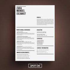 A Lasting impression Resume/CV design template + Free Cover Letter Template / Instant Digital Downlo Cover Letter Template, Free Cover Letter, Letter Templates, Cv Design Template Free, Resume Template Free, Resume Cv, Resume Design, Book Layout, Writing Advice