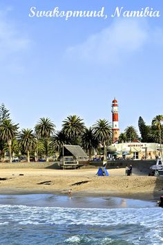 The famous lighthouse in Swakopmund, Namibia