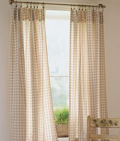 Cabin Check Rod Pocket Curtains