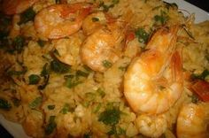 Virado de arroz com camarão