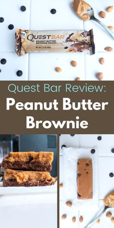Shared pin anyone Healthy Brownies, Peanut Butter Brownies, Healthy Peanut Butter, Yummy Snacks, Healthy Snacks, Breakfast Healthy, Soy Milk Nutrition, Quest Nutrition, Quest Bar Review