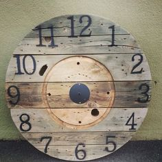 Clock with Numbers Painted, Ready To Go Up On The Wall
