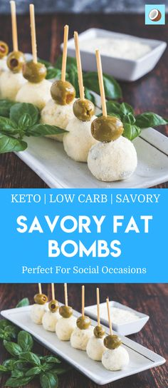 These savory fat bombs are rolled in parmesan cheese, and contain chopped olives, along with a garlic infused cream cheese mixture that will haunt your taste buds like nothing else. They are addictive, and at only 75 calories each won't but a huge dent in your caloric expenditure for the day. #fatbomb #fatbombs #keto #ketogenicdiet via @fatforweightlos