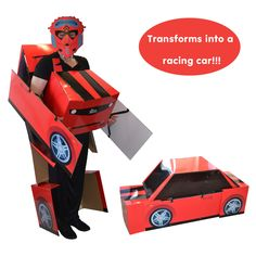 Transforming MorphMobile is the worlds first transforming costume. Morph from a robot into a racing  sc 1 st  Pinterest & Awesome Transforming Ferrari Costume that Really Transforms ...