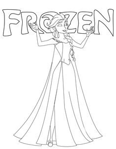 Coloring page about Frozen Disney Movie. Nice Drawing with