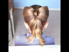 So cute! Bow Ponytail by Sweethearts Hair Design - YouTube