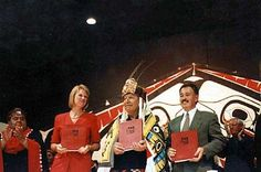 Unit 13  - the Nisga'a treaty is a negotiated agreement between the nisga'a nation, the government of British Columbia and the Government of Canada. Effected on may 11,2000 - the Nisga'a Treaty provides for an open democratic and accountable Nisga'a Government.  - Nisga'a peoples gained 8% of original land, $196 million over 15 years, ownership of the forests and $ from fisheries/hydro. Government Of Canada, Canadian History, 15 Years, Forests, British Columbia, The Unit, The Originals, 15 Anos, Woodland Forest