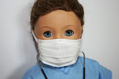 Arts and Crafts for your American Girl Doll: Hospital Mask for American Girl Doll