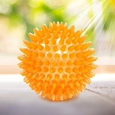 Safe Pet Toy Squeaker Ball - Dogs Chewing and Cleaning Toy For Large Medium Dog By AMOMI PET, 1 Pack, Colors Will Vary * More info could be found at the image url. (This is an affiliate link) #Dogs