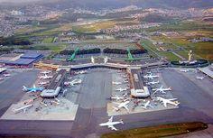 """Aeroporto Internacional de Guarulhos"". # Guarulhos, Estado de São Paulo, Brasil."