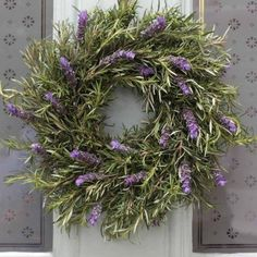 herb christmas wreaths - Google Search