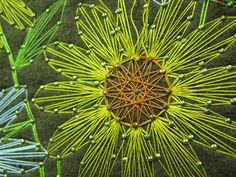 String Art meets embroidery. flower.